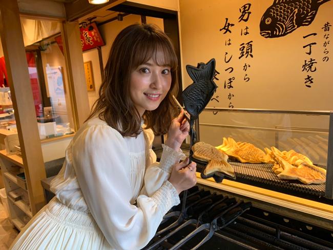 映画『静かな雨』主演・衛藤美彩さん、愛知県名古屋市で「たい焼き」修行。